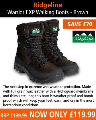 Ridgeline Warrior EXP Walking Boots - Brown