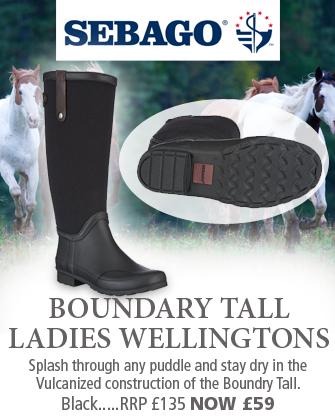 Sebago Boundary Tall Ladies Wellingtons (Women's) - Black Canvas / Rubber