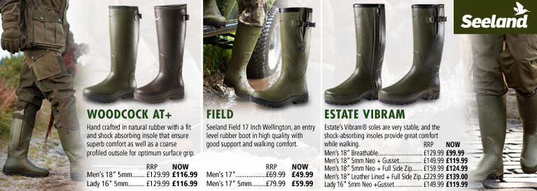 Seeland Woodcock, Field and Estate Vibram Wellingtons