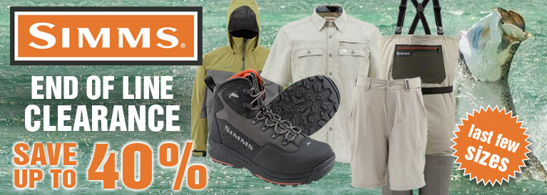 Simms End of Line Clearance Offers