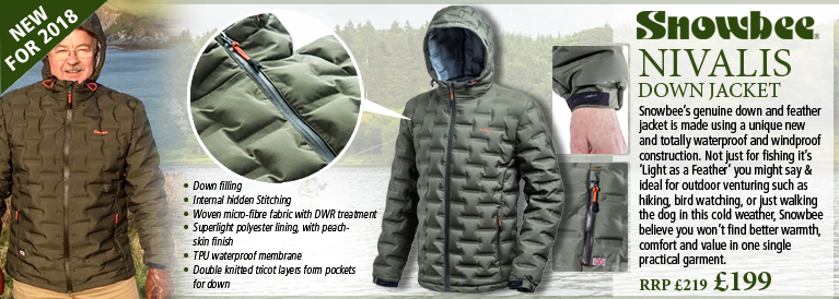 Snowbee Nivalis Down Jacket - Dark Olive