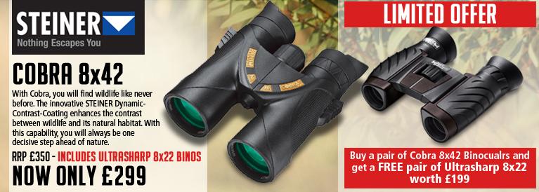 Steiner Cobra 8x42 Free Binoculars Offer