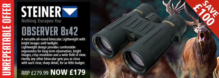 Steiner Observer 8x42 Binoculars - Black