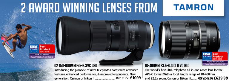 Tamron 2 Award Winning Lenses 18-400mm f3.5-6.3 Di II VC HLD Lens and Tamron G2 150-600mm F/5-6.3VC USD Lens