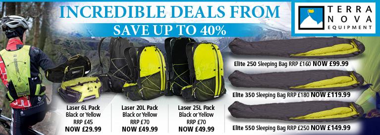 Terra Nova Backpacks and Sleeping Bags Incredible Offers