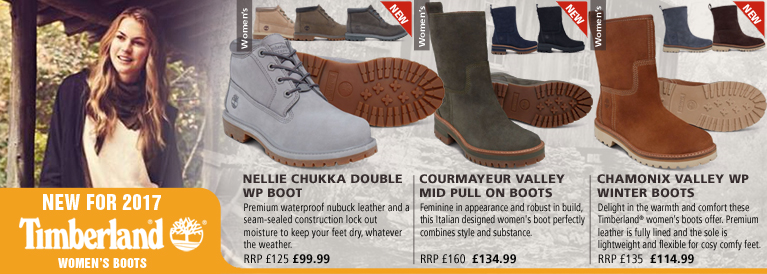 Timberland Women's Nellie Chukka Double WP, Courmayeur Valley Mid Pull On and Chamonix Valley WP Winter Boots