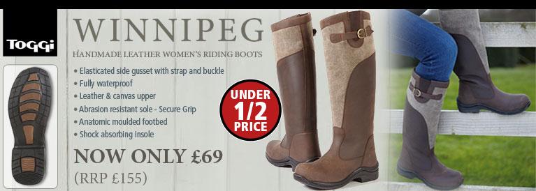 Toggi Winnipeg Riding Boots (Womens) - Brown