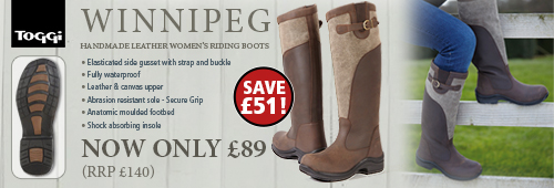 Toggi Winnipeg Riding Boots (Womens) - Brown