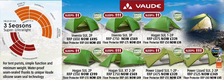 Vaude 3 Season Super Ultralight Tents