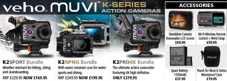 Veho Muvi K-Series Action Cameras