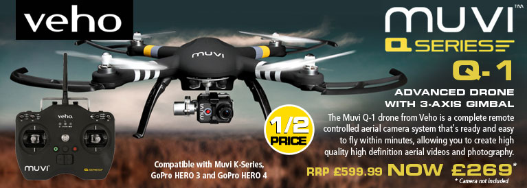 Veho Muvi Q-Series Q-1 Drone with Advanced 3-Axis Gimbal