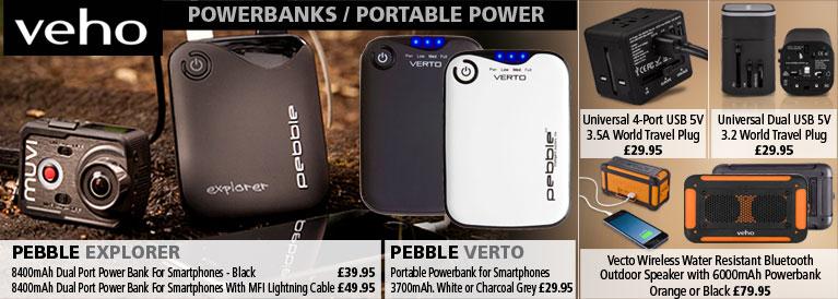 Veho Powerbanks and Portable Power