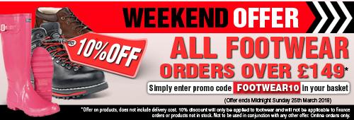 Weekend Offer 10 Percent Off all Footwear