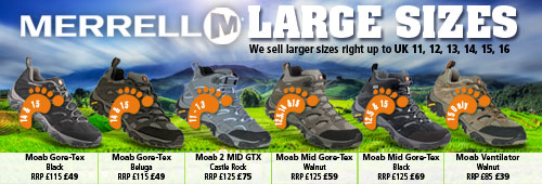MERRELL LARGER SIZES