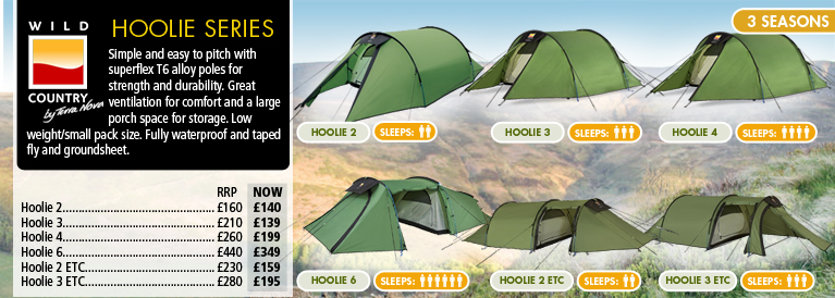 Wild Country Hoolie Tents