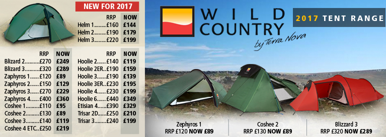 Wild Country Tent Range for 2017