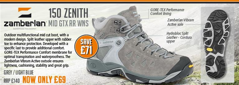 Zamberlan 150 Zenith Mid GTX RR WNS Walking Boots (Women's) - Grey / Light Blue