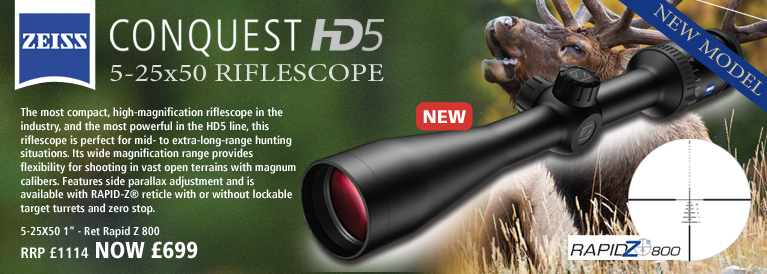 Zeiss Conquest HD5 5-25x50 1 Inch Rifle Scope