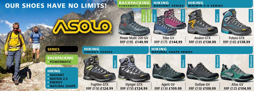 Asolo Footwear Range
