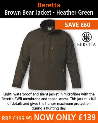 Beretta Brown Bear Jacket - Heather Green