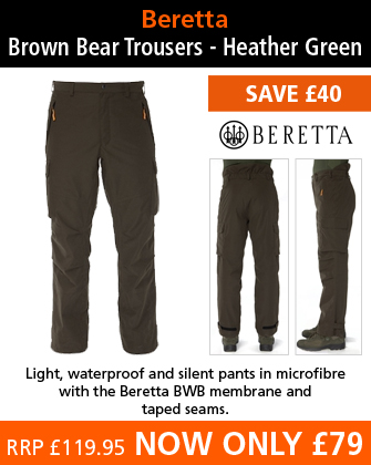 Beretta Brown Bear Trousers - Heather Green