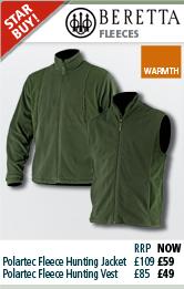 Beretta Polartec Fleece Hunting Jacket and Vest