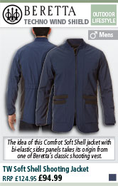 Beretta TW Soft Shell Shooting Jacket - Blue Insignia