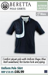 Beretta Uniform Polo Shirt - Total Blue Eclipse