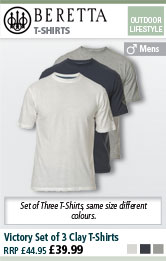 Beretta Victory Set of 3 Clay T-Shirts