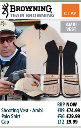 Browning Team Browning Shooting Vest, Polo Shirt and Cap