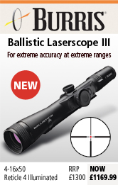 Burris Ballistic Laserscope III 4-16x50 Rifle Scope
