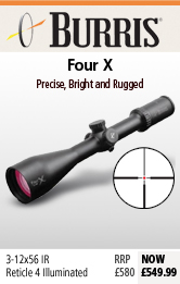 Burris Burris Four X (30mm) 3-12x56 IR Riflescope