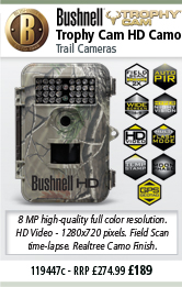 Bushnell Trophy Cam CAMO HD MAX - 1280x720P - Colour LCD Screen (119447)