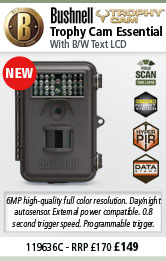 Bushnell Trophy Cam Essential - Low Glow - Brown