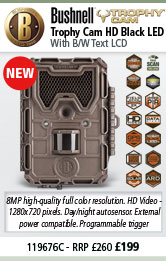 Bushnell Trophy Cam HD - Black LED - Brown