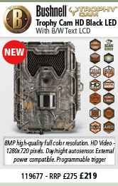 Bushnell Trophy Cam HD - Black LED - Camo