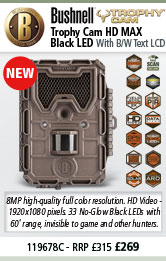 Bushnell Trophy Cam HD MAX - Black LED - Brown