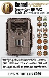 Bushnell Trophy Cam HD MAX - Black LED - Brown
