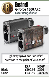 Bushnell G-Force 1300 ARC Laser Rangefinder - Black or Camo