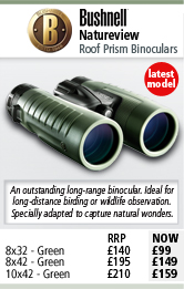 Bushnell Natureview Roof Prism Binoculars - Green