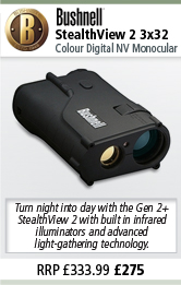 Bushnell StealthView 2 3x32 Colour Digital Nightvision Monocular