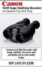 Canon 10x30 Image Stabilising Binoculars