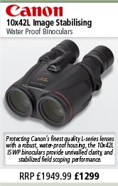Canon 10x42L Image Stabilising Water Proof Binoculars