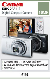 Canon IXUS 265 HS 16MP Digital Camera - Silver