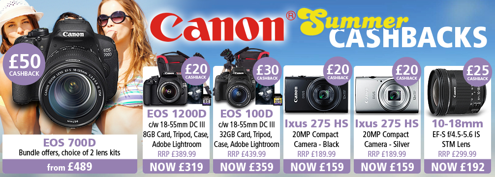 Canon Summer Cashbacks