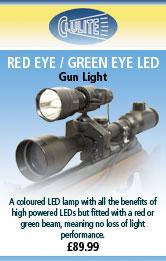 Clulite Red Eye LED Gun Light - Red