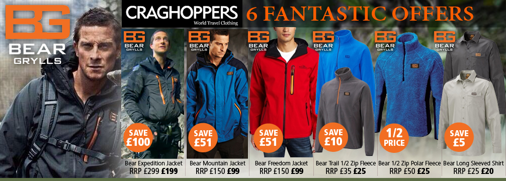 Craghoppers Bear Grylls Clothing Offers