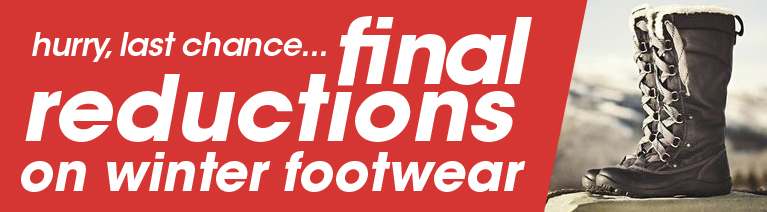 Winter Footwear Final Reductions