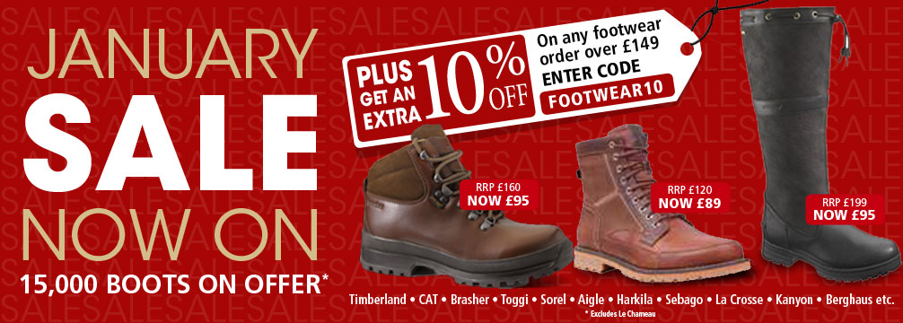 Footwear January Sale