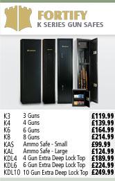 Fortify K Series Gun Safes